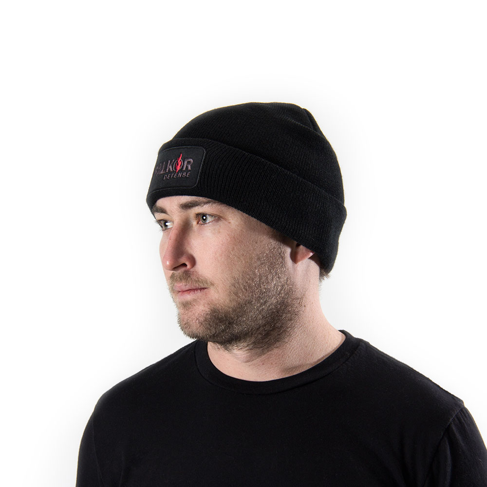 Men's Falkor patch black beanie